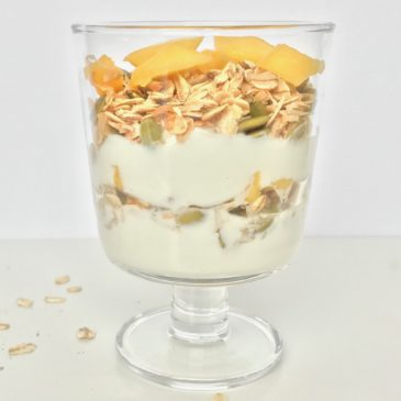 Sweet n' crunchy tropical parfait