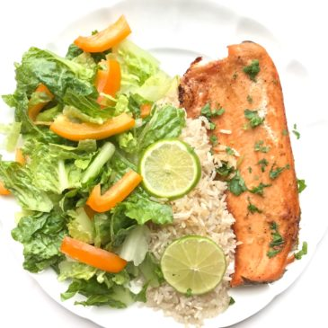 Baked garlic and citrus rainbow trout