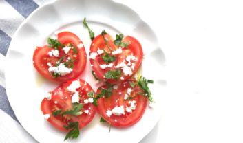 fresh herb and feta tomatoes